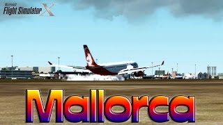 FSX [HD] |BY REQUEST| Air Berlin A330 to Mallorca