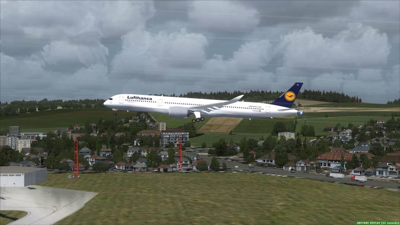 Lufthansa A350-1000 approaching Zurich [FSX]
