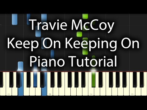 Travie McCoy feat. Brendon Urie - Keep On Keeping On Tutorial (How To Play On Piano)