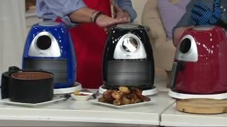 Power Air Fryer XL Pro 3.4qt w/Touchscreen, Barrel Pan & Grill Rack on QVC