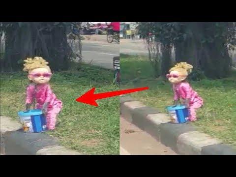Awalnya dikira Boneka, Saat di dekati Bergerak & berlari !! Astaga ternyata ini...