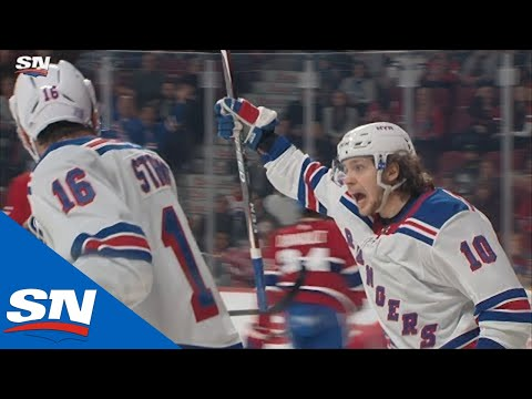 Artemi Panarin Finishes Off Beautiful Tic-Tac-Toe Passing By Rangers