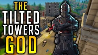 THE TILTED TOWERS GOD! || 1 TIERS FOR BLACK KNIGHT || FORTNITE BATTLE ROYALE!