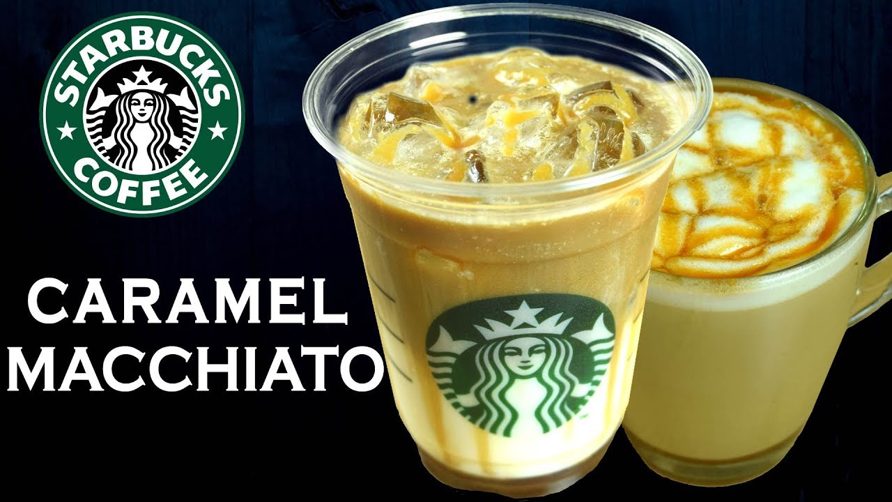 How To Make Caramel Macchiato Iced Caramel Macchiato Like Starbucks At Home Yummylicious
