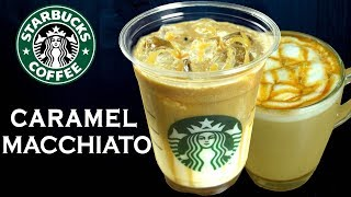 How to make Caramel Macchiato/ Iced Caramel Macchiato like STARBUCKS at home   Yummylicious