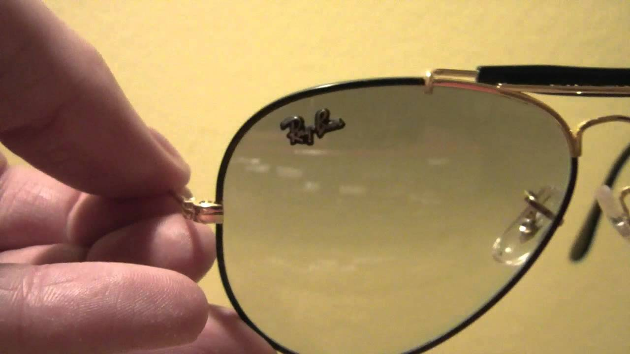 3c217d9823 Vintage Ray-Ban Outdoorsman 58 mm Bausch   Lomb - Precious Metals - YouTube