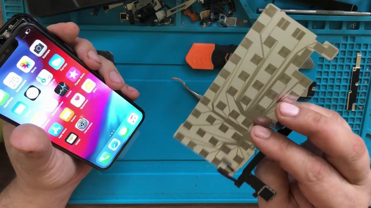 Форстач в iPhone X работает с порванным шлейфом. Аппаратный 3D touch Apple в X программный фэйк ?