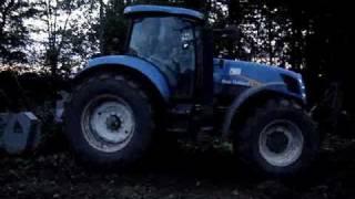 New Holland t7030 & Frez leśny FAE UMM-225 -Wycinka Krzewów