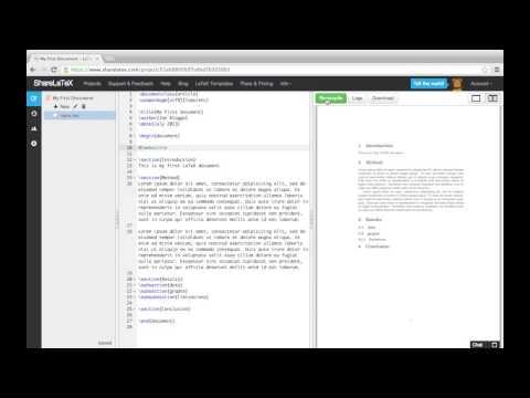 LaTeX video tutorial for beginners (video 2) - Overleaf