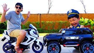 예준이의 경찰 직업체험 경찰 전동 자동차 슈퍼바이크 오토바이 장난감 놀이 Pretend Play Kids Police Power Wheels Car