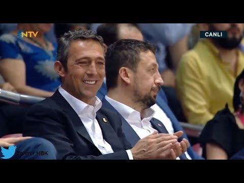 Bobby Dixon'ın müthiş üçlüğüne Obradovic ve Ali Koç'un sempatik tepkisi :)