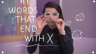 Weekly English Words with Alisha - Words that end with X