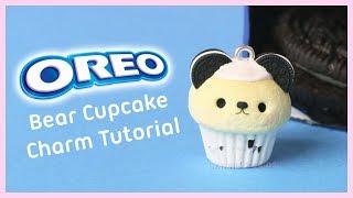Oreo Bear Cupcake ● Polymer Clay Charm Tutorial