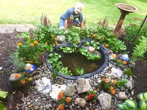 Minnesota Koi Pond ~ Mini Pond Build ~ With 4 Week Old Koi Fish ~ Part 4
