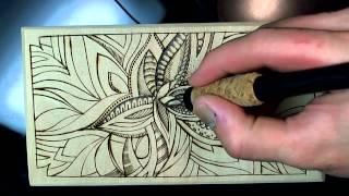 Wood Burning Doodle 3 (40x Speed)