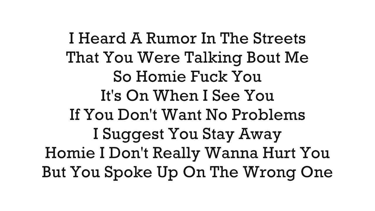 YBe - Rumor In The Streets (Ft  Smilone & Slowpoke) (With Lyrics On Screen)