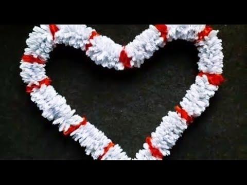 Paper garland/How to make paper garland at home/diwali and puja decoration/veni / gajra. Craft