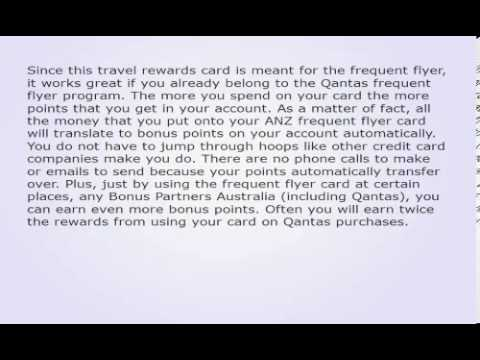 The Anz Frequent Flyer Credit Card Is A Travel Card That Makes For Cheaper And More Effec 821