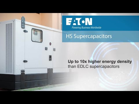 Hybrid supercapacitors from Eaton