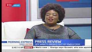 Press review: Fireworks at Mwilu\'s trial after her lawyers reject QC Khawar Qureshi