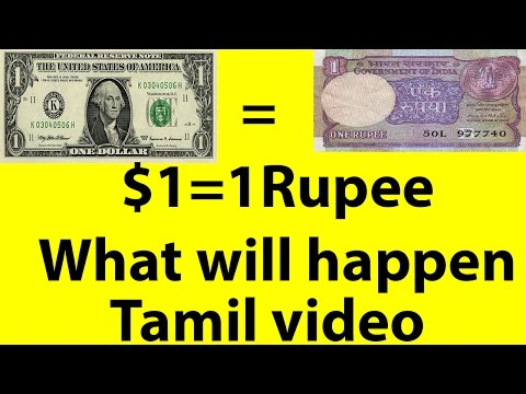 What If 1 Dollar Become 1 Rupee? [Tamil Video]