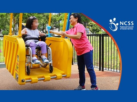 Inclusive Playground - Wheelchair swing