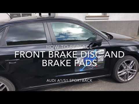 How to replace your front brake disc and brake pads Audi A1/S1 Sportback DIY
