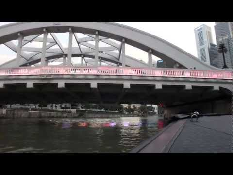 Singapore - Singapore River - Clark Quay to Marina Bay HD (2012)
