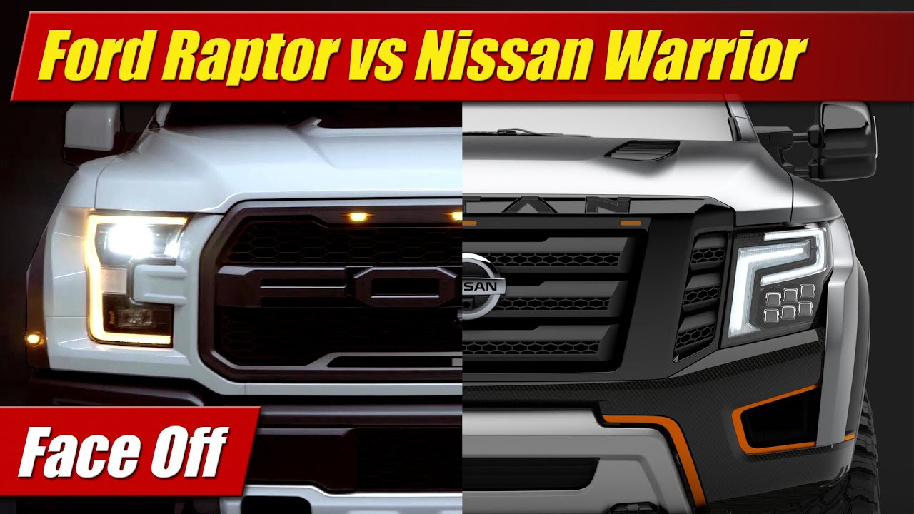 Reaper Silverado >> Face Off: Ford F-150 Raptor vs Nissan Titan Warrior - YouTube