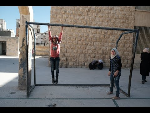One year after battle for Aleppo  - Rebuilding schools