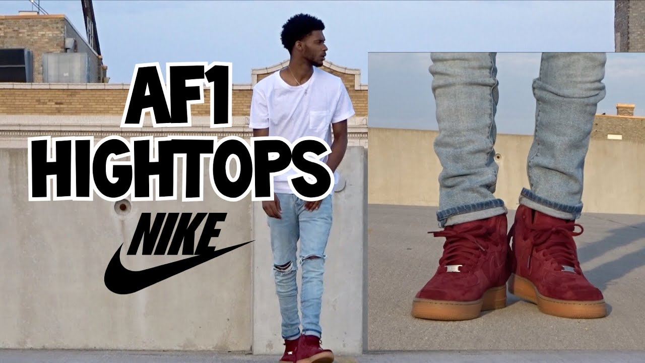 nike air force 1 high wear pants