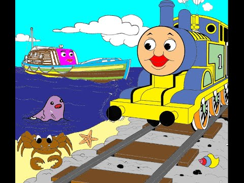 Thomas and Friends Coloring Pages - Lear How to Colour - Coloring ...