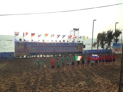 Russia vs Ireland (11-0) HD, full match, 12th Pattaya Beach Football Cup 2017, Thailand