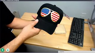 Make an American Flag Cap -  Cut n Press