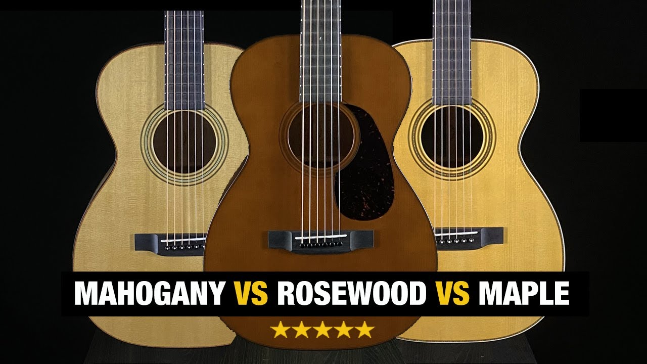 Martin Tonewood Comparison - Mahogany vs Rosewood vs Maple