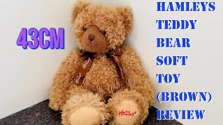 Hamleys Teddy Bear Soft Toy Brown Review-super soft best quality huggable soft toy for your baby