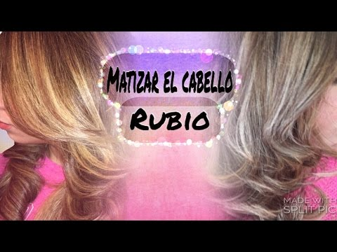 Matiza El Cabello Rubio En Casa /toner T18. T15 Nady