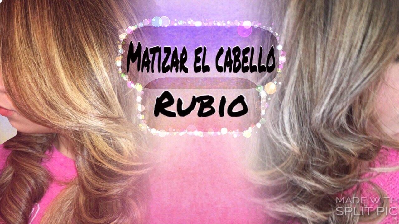 e3982f557dd Matiza El Cabello Rubio En Casa /toner T18. T15 Nady - YouTube
