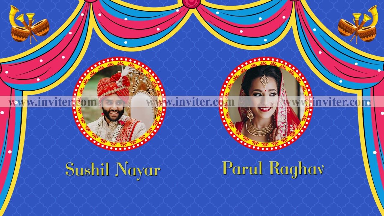 Traditional Hindu Wedding Invitation Video | Indian Wedding Video Invitation