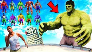 FRANKLIN Found Super GIANT HULK &amp 20 HULKs in GTA 5 With Shinchan And Pinchan  GTA5 AVENGERS