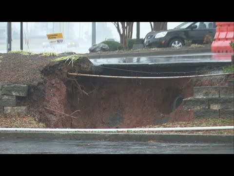 Sinkhole Opens Up In Greer