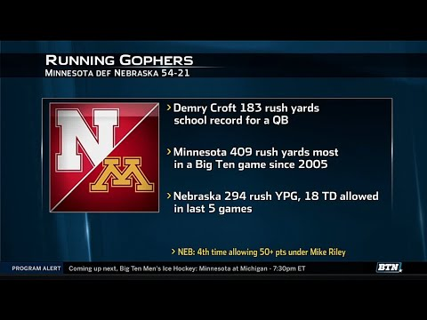 Nebraska at Minnesota - Football Highlights