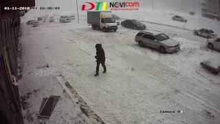 Погода в Астане - 11.01.18 - моменты видеонаблюдения