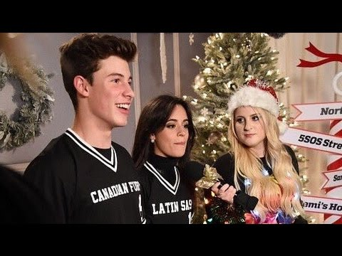 Shawn Mendes & Camila Cabello Exchange Christmas Gifts W/ Meghan Trainor