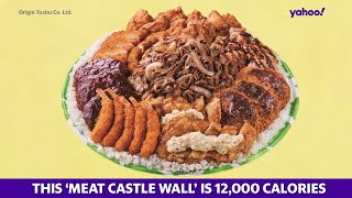 This 'Meat Castle Wall' takes food portions to new heights