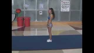 Ashley Hart UCR Cheer Tryout