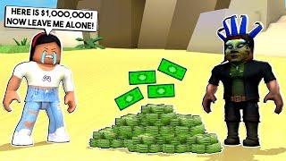 I GAVE MY STALKER $1,000,000 TO LEAVE ME ALONE! - Roblox - Bloxburg