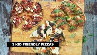 3 Kid Friendly Pizza Recipes #kidapprovedmeals