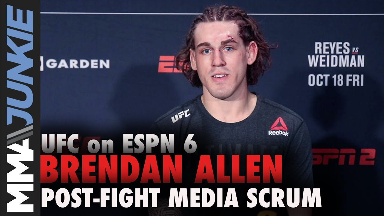 Download UFC Boston: Brendan Allen full post-fight media scrum