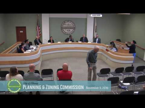 Planning & Zoning Commission - Nov 9, 2016
